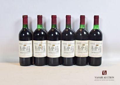 6 bouteillesChâteau TARTUGUIÈREMédoc CB1988...