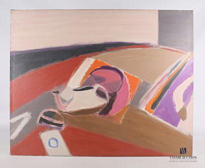 CÉLICE Pierre (1932-2019)  La table rouge...