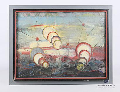 POLIMENO Paolo (1919-2007)  Paysage fantastique...