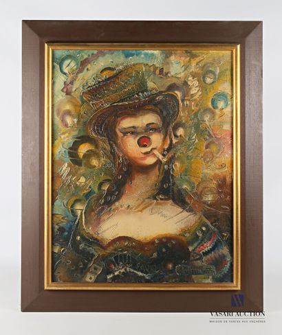 POLIMENO Paolo (1919-2007)  Clown féminin...