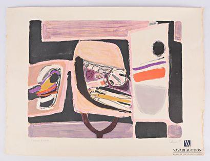 CÉLICE Pierre (1932-2019)  Composition rosée...