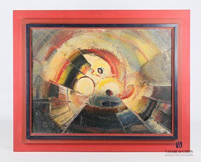 POLIMENO Paolo (1919-2007)  Soleil et fleurs...