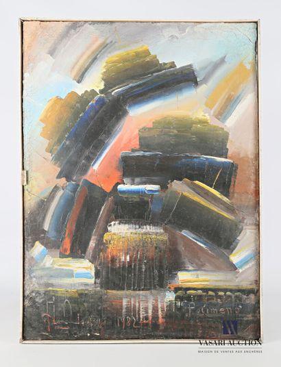 POLIMENO Paolo (1919-2007)  Composition abstraite...