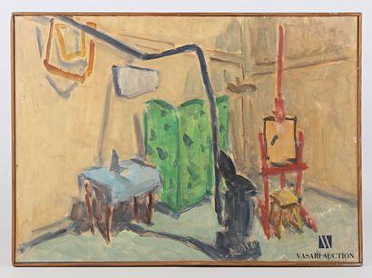 PIKELNY Robert (1904-1986)  L'Atelier  Huile...