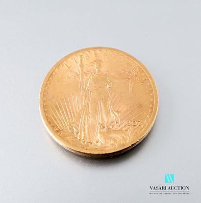 Pièce en or de 20 dollars type Saint Gaudens...