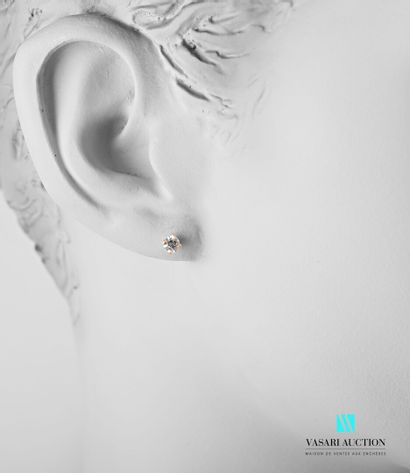 Paire de ras d'oreilles en or gris 750 millièmes...