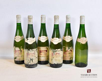 6 bouteillesCÔTEAUX DU LAYON mise Domaine...