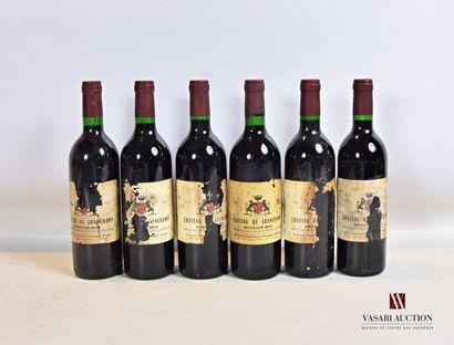 6 bouteillesChâteau de GRANCHAMPMontagne...