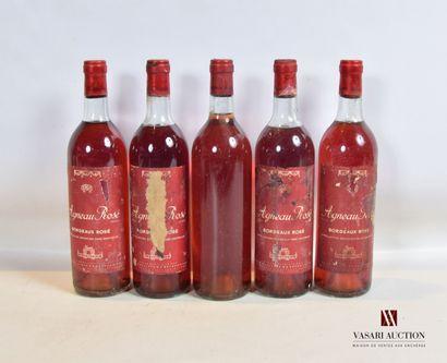 5 bouteillesAGNEAU ROSÉBordeaux rosé mise...