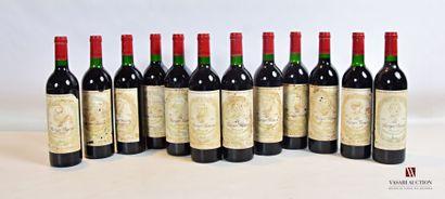 12 bouteillesLE BERGER BARONBordeaux mise...