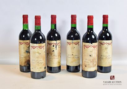 6 bouteillesBARON PHILIPPESt Estèphe mise...