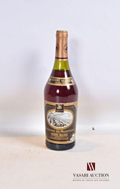 1 bouteilleARBOIS Domaine de Montfort mise...