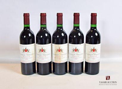 5 bouteillesChâteau MOULINETPomerol1983...