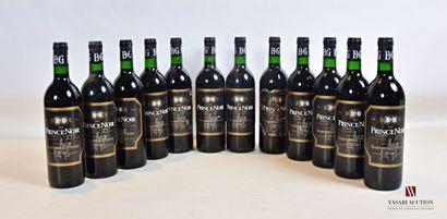 12 bouteillesPRINCE NOIR mise nég.Bordeaux...