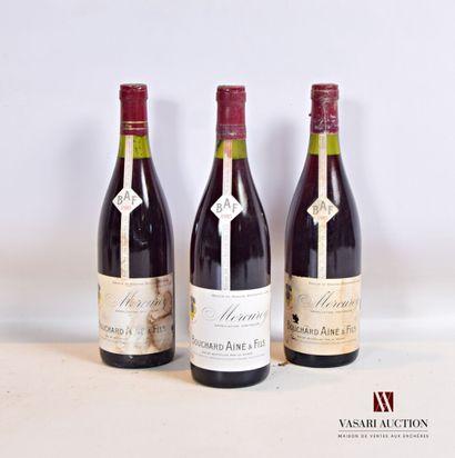 3 bouteillesMERCUREY mise Bouchard Ainé...