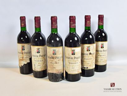 6 bouteillesChâteau POUGETMargaux GCC1987...