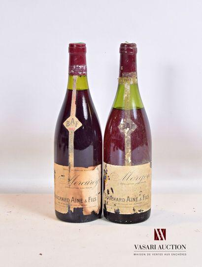 Lot de 2 bouteilles comprenant :  1 bouteilleMORGON...