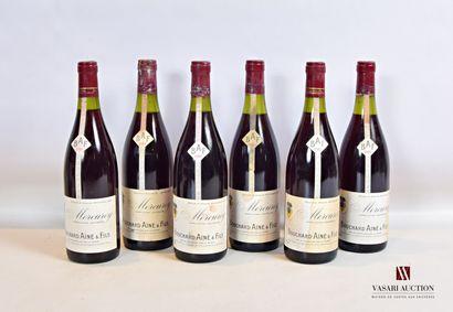 6 bouteillesMERCUREY mise Bouchard Ainé...