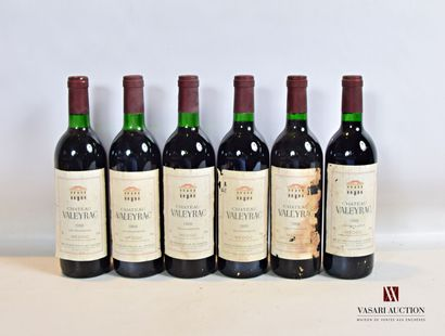 6 bouteillesChâteau VALEYRACMédoc CB1988...