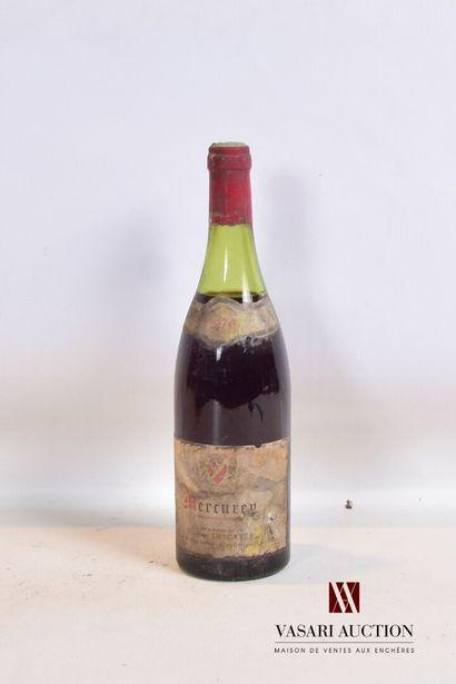 1 bouteilleMERCUREY mise Evariste Descaves...