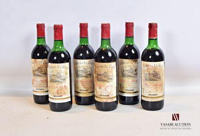 6 bouteillesChâteau LE ZARACôtes de Bourg...