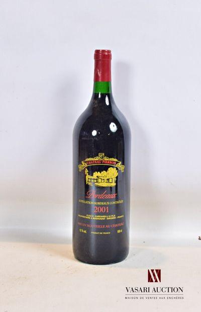 1 magnumChâteau PIERRONBordeaux 2001  Présentation...