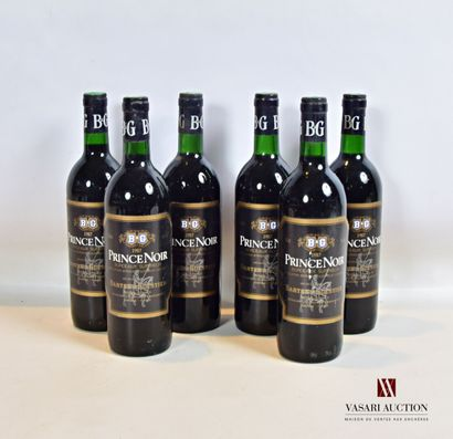 6 bouteillesPRINCE NOIR mise nég.Bordeaux...