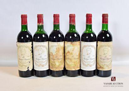 6 bouteillesLE BERGER BARONBordeaux mise...