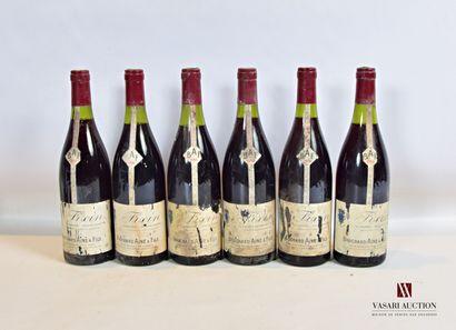 6 bouteillesFIXIN mise Bouchard Ainé & Fils1986...