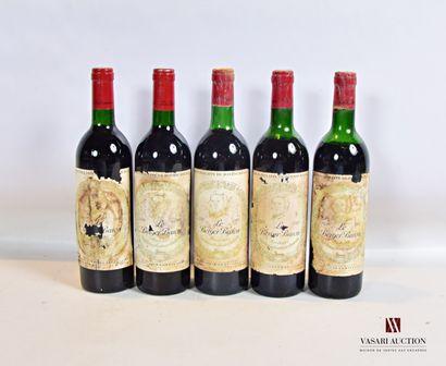 5 bouteillesLE BERGER BARONBordeaux mise...