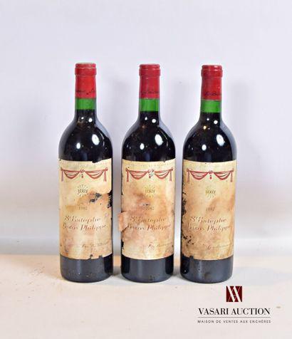 3 bouteillesBARON PHILIPPESt Estèphe mise...