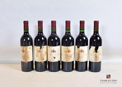 6 bouteillesChâteau MOULINETPomerol1983...