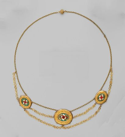 Collier esclavage en or jaune, la chaîne...