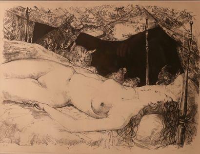 FOUJITA Léonard Tsuguharu (1886-1968) Femme...