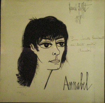 BUFFET Bernard (1928-1999) Portrait d'Annabel...