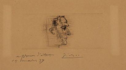 PICASSO Pablo (1881-1973)Portrait de Marcel...