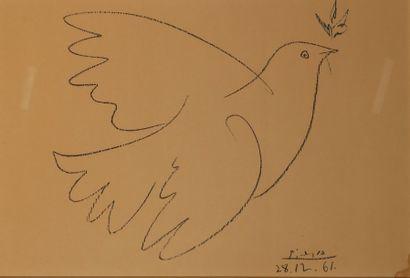 PICASSO Pablo (1881-1973)D'après Colombe Reproduction...