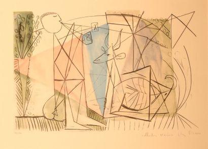 PICASSO Pablo (1881-1973) d'après Joueur...