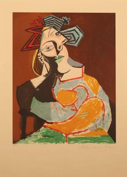 PICASSO Pablo (1881-1973) d'après Femme Accoudée...