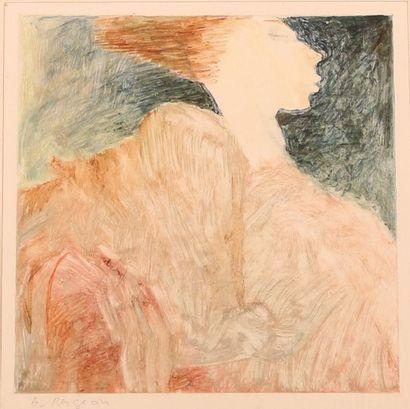 BERGEON Alain (né en 1938) Silhouettes Deux...