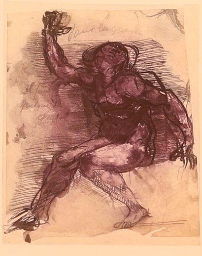 RODIN Auguste (1840-1917), d'après  Damné Lithographie...