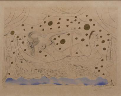 DALI Salvador (1904-1989) d'après Nu au bain...