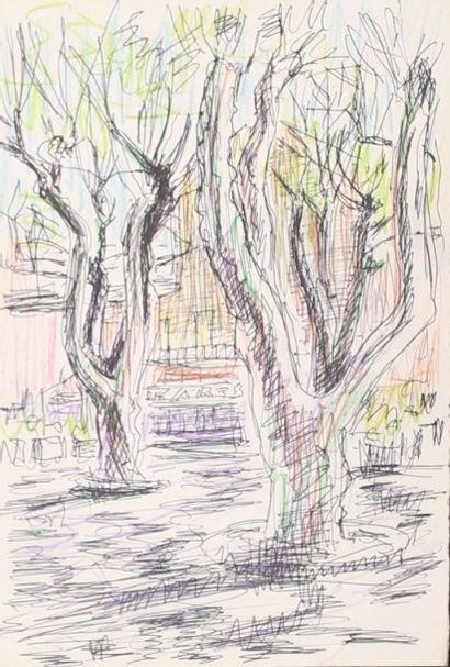KIFFER Charles (1902-1992)Place de St TropezStylo...
