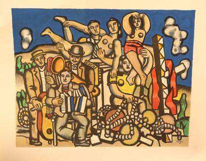 LÉGER Fernand (1881-1955) Derrière le Miroir Lithographie Epreuve...