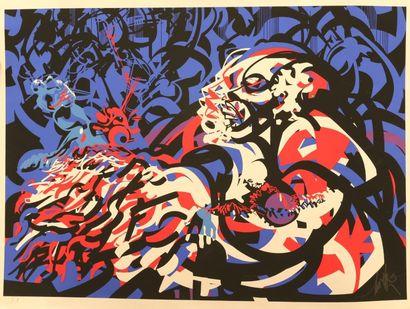 MORETTI Raymond (1931-2005) Jazz Sérigraphie Signée...
