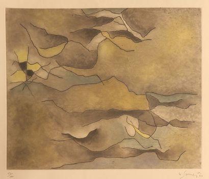 SINGIER Gustave (1909-1984) Sans titre Aquatinte Signée...