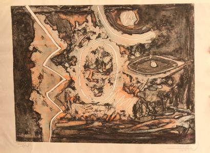BANERJEE Bimal (né 1939) (Inde) Third Eye Aquatinte...