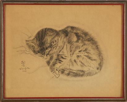 FOUJITA Léonard Tsuguharu (1886-1968) Chat...