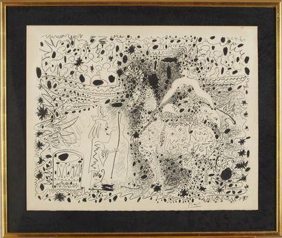 PICASSO Pablo (1881-1973) L'Ecuyère - 1960 Lithographie...