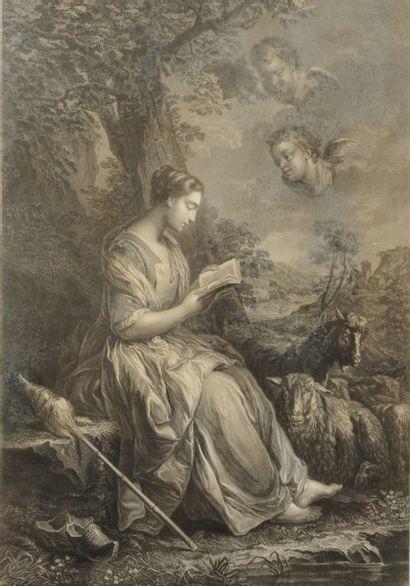 Anonyme du XVIIIème siècle Sainte Geneviève...